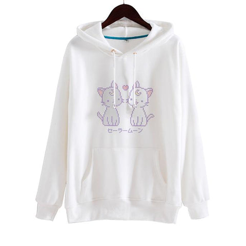 Artemis&Luna Hoodie SD00911 - SYNDROME - Cute Kawaii Harajuku Street Fashion Store