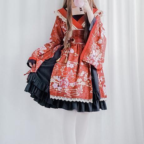 Chic Fan Kimono Dress SD00668 - SYNDROME - Cute Kawaii Harajuku Street Fashion Store