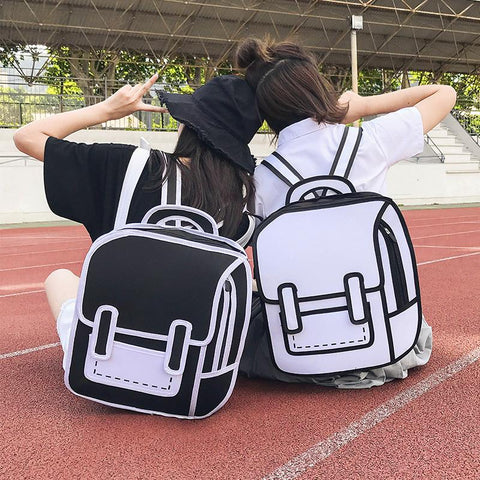 3D Comic School Backpack SD00153 - SYNDROME - Cute Kawaii Harajuku Street Fashion Store