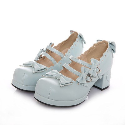Kawaii Lace Bow Straps Shoes SD00785