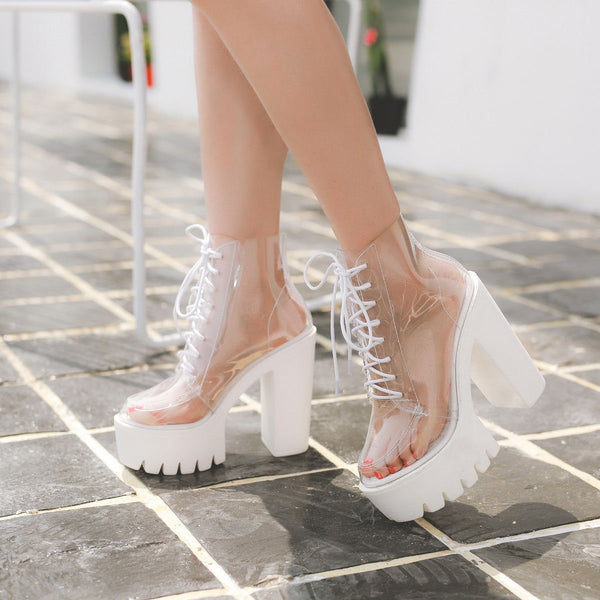 Transparent High-heeled Platform Boots SD00130