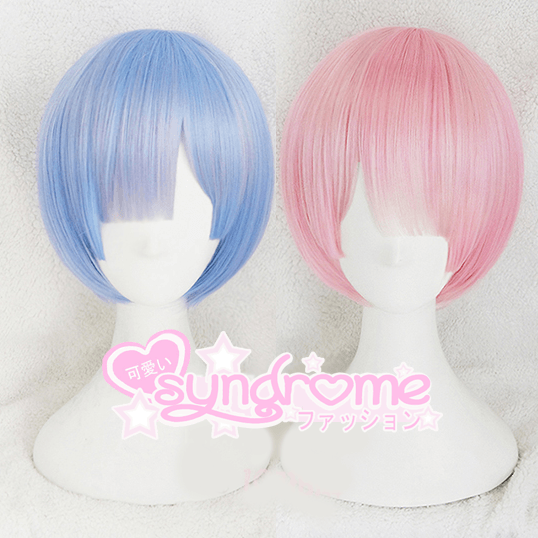 Re:Zero Rem Ram Short Wig SD00912 - SYNDROME - Cute Kawaii Harajuku Street Fashion Store