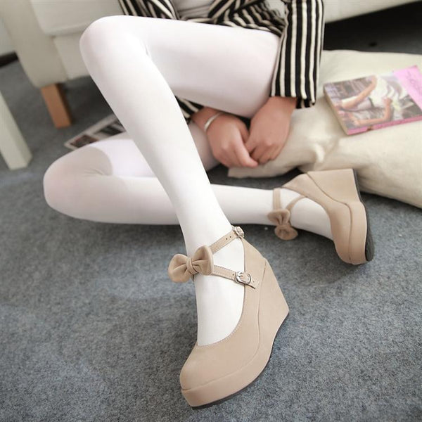 Japanese lolita princess bow heel shoes SD00228 - SYNDROME - Cute Kawaii Harajuku Street Fashion Store