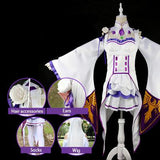 Re:Zero Emilia Cosplay Dress SD00577