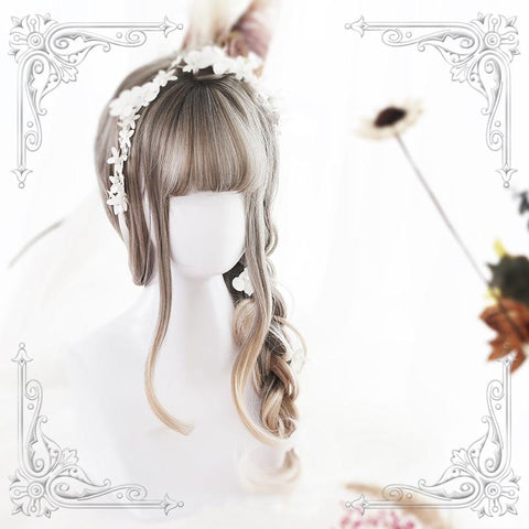 Grey Blonde Bangs Long Wig SD01050 - SYNDROME - Cute Kawaii Harajuku Street Fashion Store