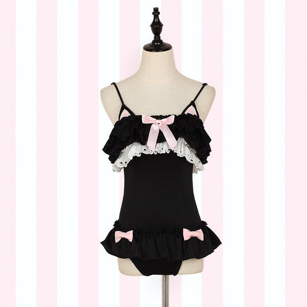 Cutie Black Cat Swimsuit SD01842 - SYNDROME - Cute Kawaii Harajuku Street Fashion Store