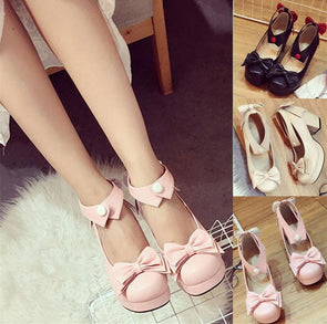 Japanese kawaii bow collared high heel shoes SD00245
