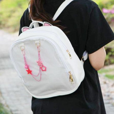 Transparent Front Neko Backpack SD00373 - SYNDROME - Cute Kawaii Harajuku Street Fashion Store