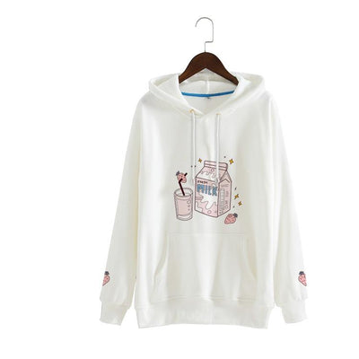Strawberry Milk Hoodie Sweater SD00998 - SYNDROME - Cute Kawaii Harajuku Street Fashion Store