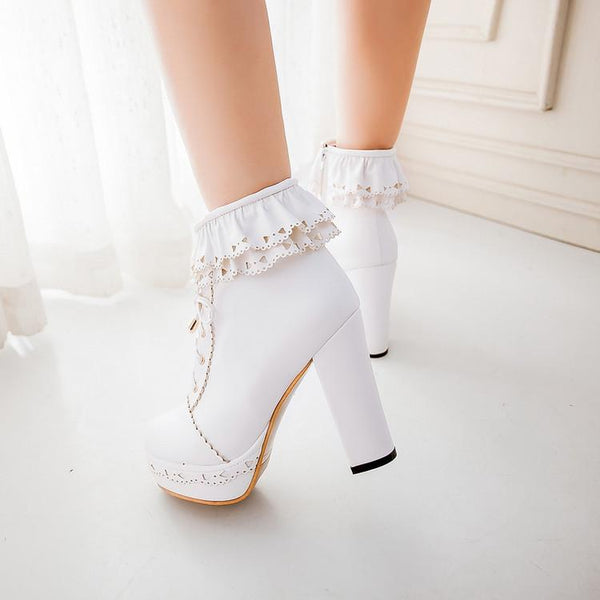 Lolita Lace High-Heeled Shoe SD00061