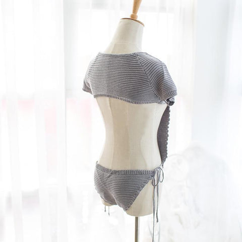 Japanese Virgin Killer Inspired Hollow Chest Keyhole Sweater SD02369
