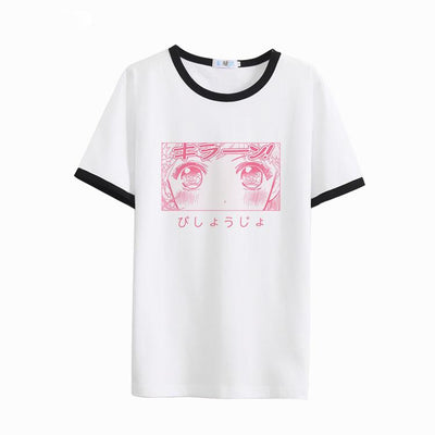 Anime Girl Eye T-shirt SD00779 - SYNDROME - Cute Kawaii Harajuku Street Fashion Store