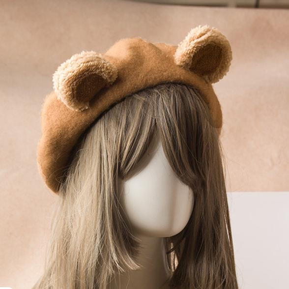 Bear Ears Beret SD00329 - SYNDROME - Cute Kawaii Harajuku Street Fashion Store