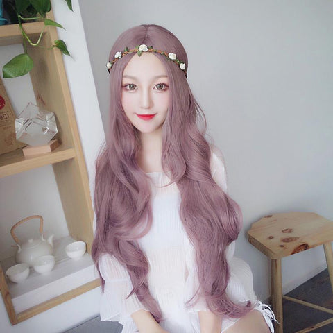 Harajuku Gradient Purple Long Wave Wig SD00675