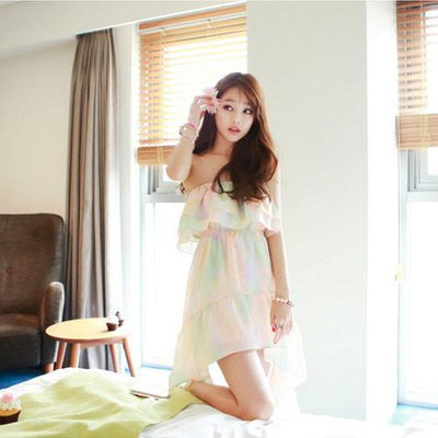 Pastel Chiffon Beach Dress SD02478 - SYNDROME - Cute Kawaii Harajuku Street Fashion Store