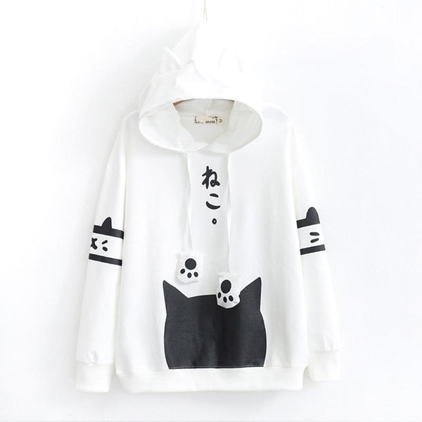 Neko Atsume Hoodie Sweater SD00267 - SYNDROME - Cute Kawaii Harajuku Street Fashion Store
