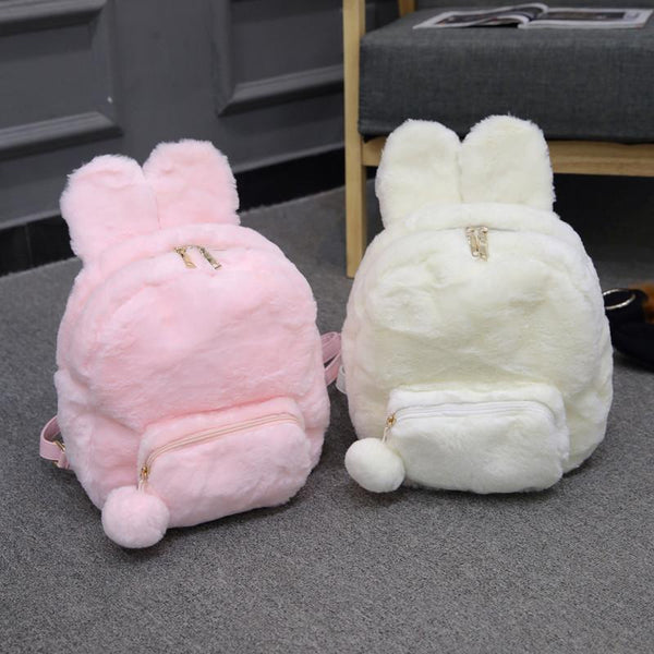 Plush Fluffy Bunny Backpack SD00778 - SYNDROME - Cute Kawaii Harajuku Street Fashion Store