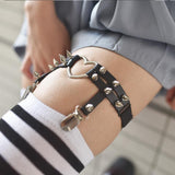 Studs Heart Punk Leg Garter SD00253 - SYNDROME - Cute Kawaii Harajuku Street Fashion Store