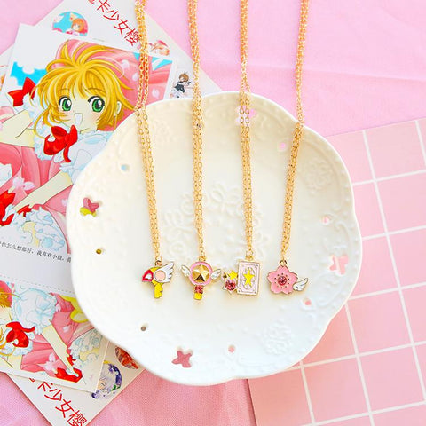 Cardcaptor Sakura Card/Star/Winged Staff/Sakura Blossom Necklace SD01499 - SYNDROME - Cute Kawaii Harajuku Street Fashion Store