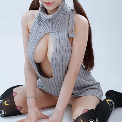 Virgin Killer Hollow Chest Sweater SD01622 - SYNDROME - Cute Kawaii Harajuku Street Fashion Store