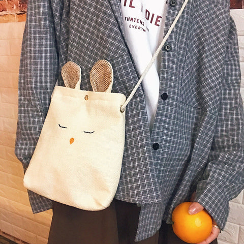 Korean Retro Rabbit Messenger Bag SD02175