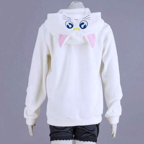 Luna and Artemis Sailor Moon Warm Winter Hooded Sweater SD00051