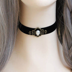 Japanese Harajuku Velvet Strip Pearl Choker SD00019 - SYNDROME - Cute Kawaii Harajuku Street Fashion Store