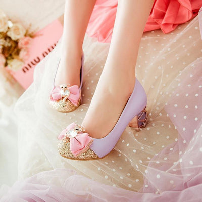 Shiny Nose Ribbon High-Heels Shoes SD00181 - SYNDROME - Cute Kawaii Harajuku Street Fashion Store