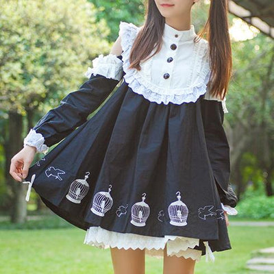 Bird Cage Lolita Dress SD00745 - SYNDROME - Cute Kawaii Harajuku Street Fashion Store