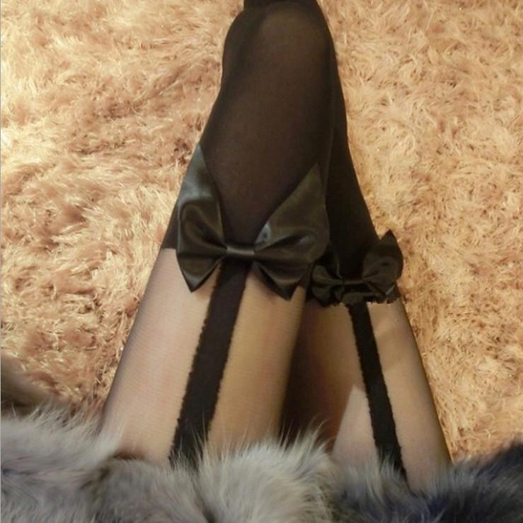 Kawaii Bow Knee Tights Pantyhose SD01967