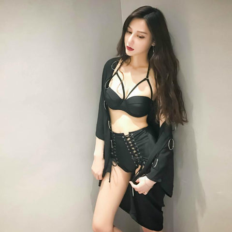 Korean summer fashion corset 2 piece bikini swimsuit (swim suit) SD00177