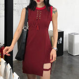 String Chest Strap Slim Dress SD00969 - SYNDROME - Cute Kawaii Harajuku Street Fashion Store