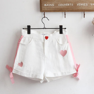 Heart Summer Shorts SD01681 - SYNDROME - Cute Kawaii Harajuku Street Fashion Store
