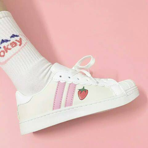 Kawaii pink strawberry sneakers SD00616