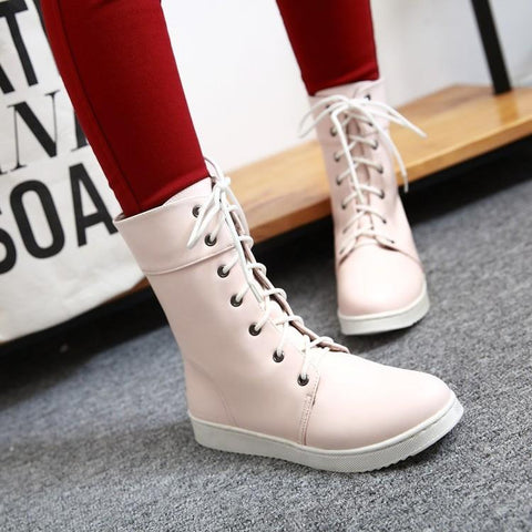Casual Flat Boots Shoes SD00239 - SYNDROME - Cute Kawaii Harajuku Street Fashion Store
