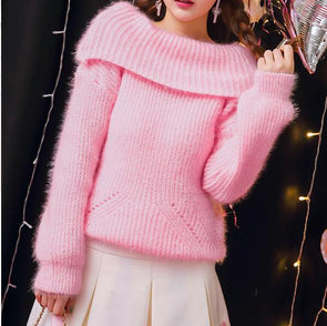 Knitted Turtle Neck Sweater SD00422