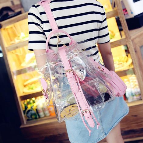 Transperant Pastel Backpack SD00596
