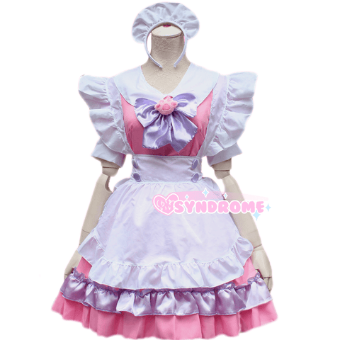 Pink Cat Paw Bow Maid Dress SD00782 - SYNDROME - Cute Kawaii Harajuku Street Fashion Store