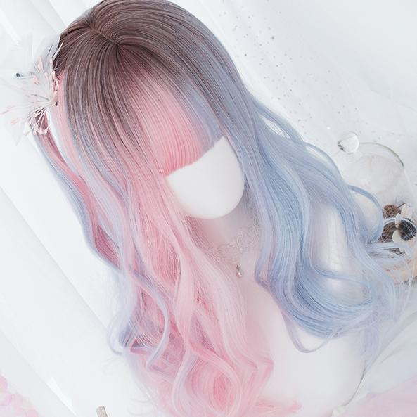 Pink Blue Gradient Long Wig SD00175