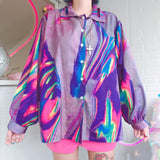 Illusion Gradient Blouse SD00371