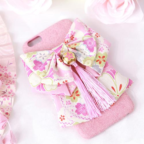 Cute Kimono Bow Fur Ball Phone Case SD00739 - SYNDROME - Cute Kawaii Harajuku Street Fashion Store