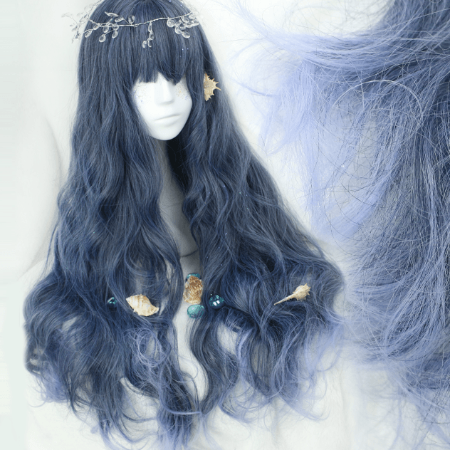 Mermaid Dark Navy Blue Cosplay Wig SD00487