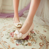 Shiny Nose Ribbon High-Heels Shoes SD00181
