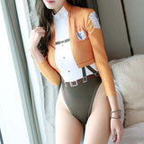 Attack on Titan Uniform High Cut Hip Leg Bodysuit Swimsuit SD01960 - SYNDROME - Cute Kawaii Harajuku Street Fashion Store