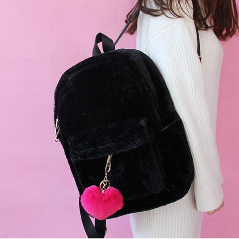 Soft Fluffy Backpack SD00715