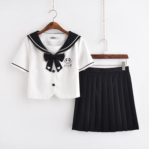 Panda Embroidered School Uniform SD00231