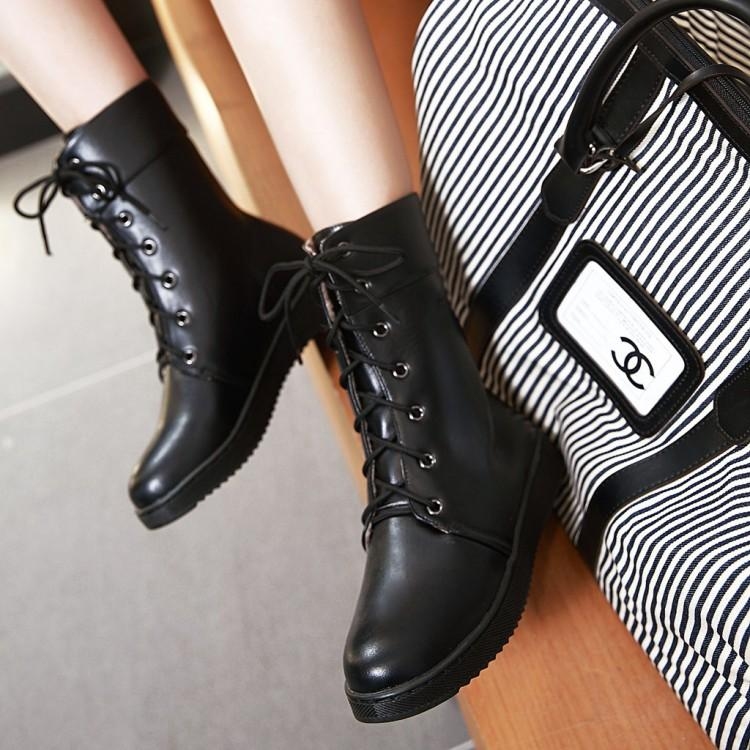 Korean casual flat boots shoes SD00239
