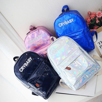 Holographic Crybaby Backpack SD00659 - SYNDROME - Cute Kawaii Harajuku Street Fashion Store