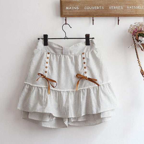 Double Ribbon Skirt Shorts SD01590 - SYNDROME - Cute Kawaii Harajuku Street Fashion Store