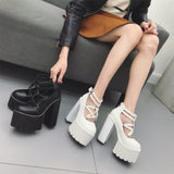 Pentagram Double Strap High Heels Shoes SD00144 - SYNDROME - Cute Kawaii Harajuku Street Fashion Store